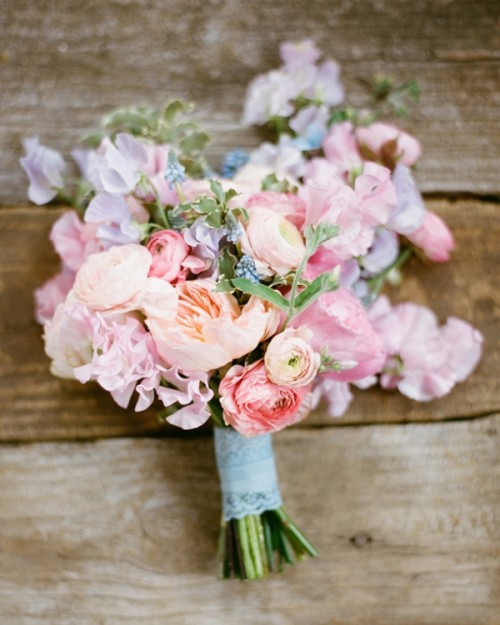 Pastel Wedding Flowers: 30 Stunning Mixed Pastel Colored Bouquets