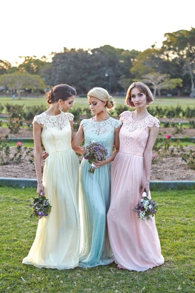 Wedding Philippines - Top 6 Ways to Wear Bridesmaid Dresses - Different  Colors, Same Styles (1)
