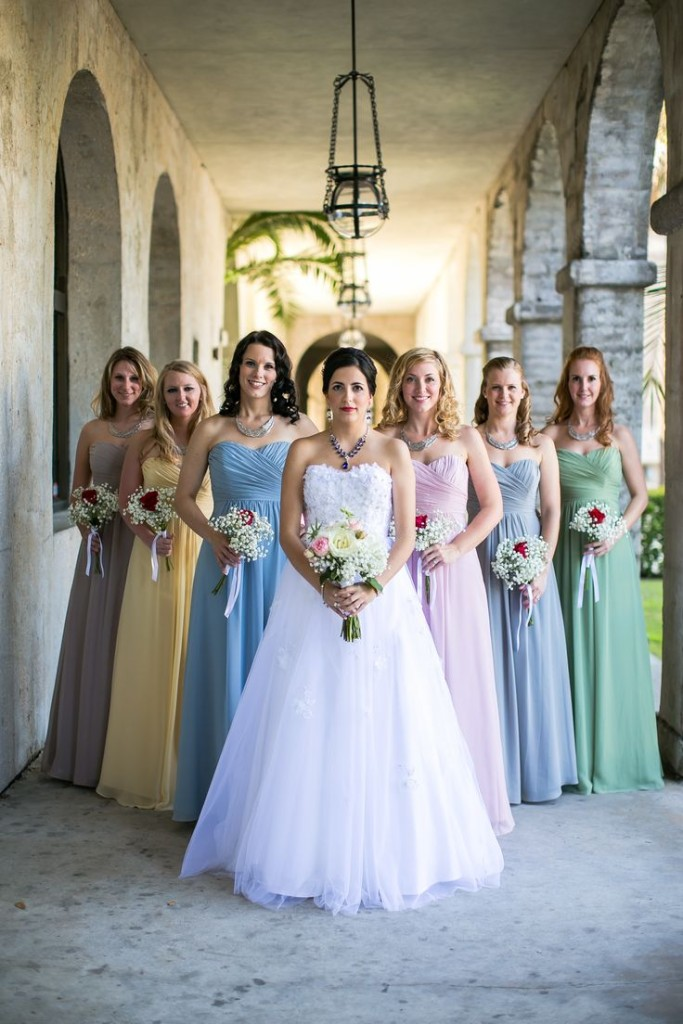 Wedding Philippines - Top 6 Ways to Wear Bridesmaid Dresses - Different  Colors, Same Styles (2)