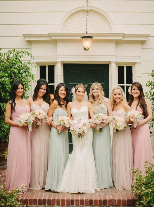 Wedding Philippines - Top 6 Ways to Wear Bridesmaid Dresses - Different  Colors, Same Styles (3)