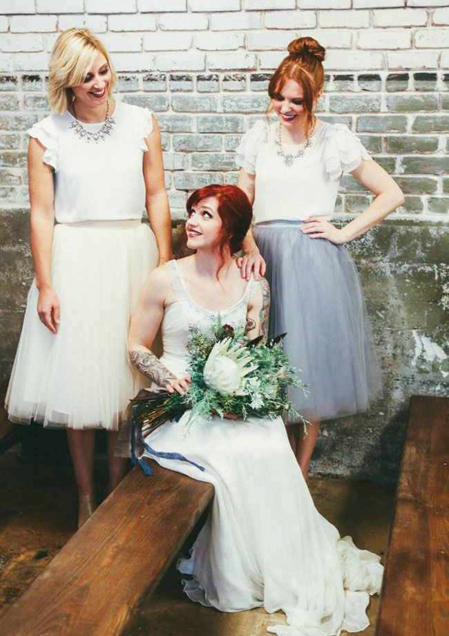 Wedding Philippines - Top 6 Ways to Wear Mismatched Bridesmaid Dresses - Mixing Tops Skirts (1)