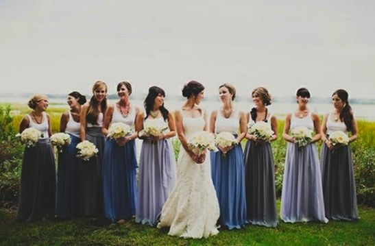 Wedding Philippines - Top 6 Ways to Wear Mismatched Bridesmaid Dresses - Mixing Tops Skirts (6)