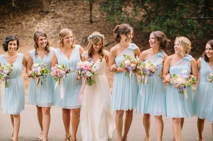 bridesmaid dresses with different styles same color - Bridesmaid Dresses Same Color Different Style