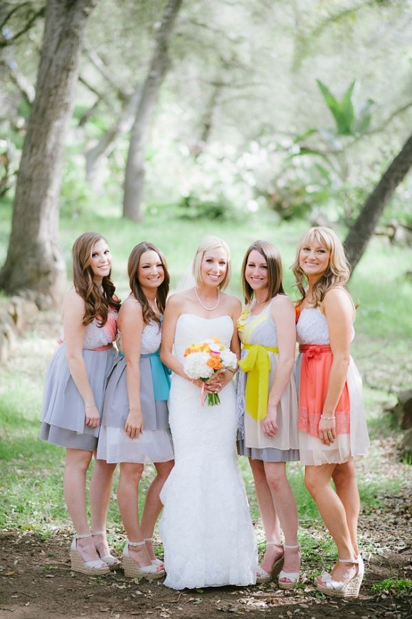Wedding Philippines - Top 6 Ways to Wear Mismatched Bridesmaids - Different Colors, Different Styles (4)