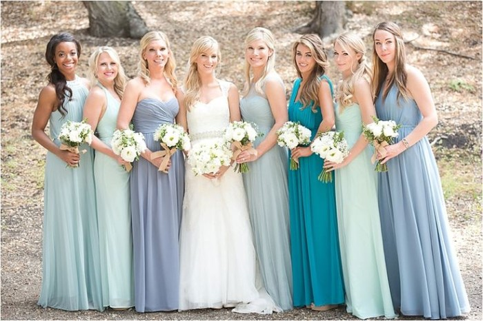 Wedding Philippines - Top 6 Ways to Wear Mismatched Bridesmaids - Different Colors, Different Styles (5)