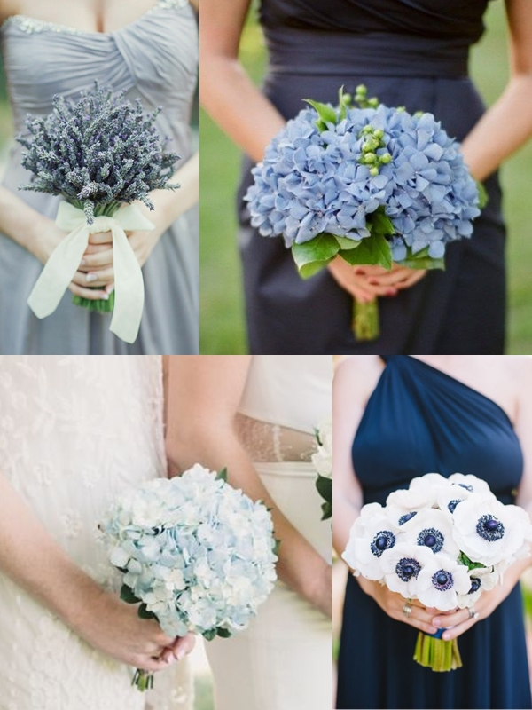 Wedding Philippines - Blue Purple Lilac Lavender Single Bloom Flower Bouquet Ideas