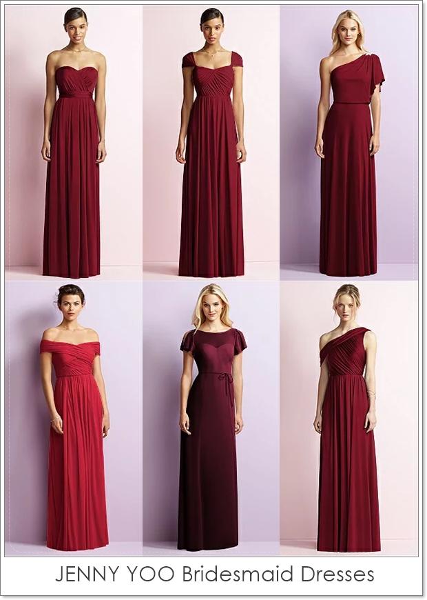 Wedding Philippines Jenny Yoo Bridesmaid Dresses Red