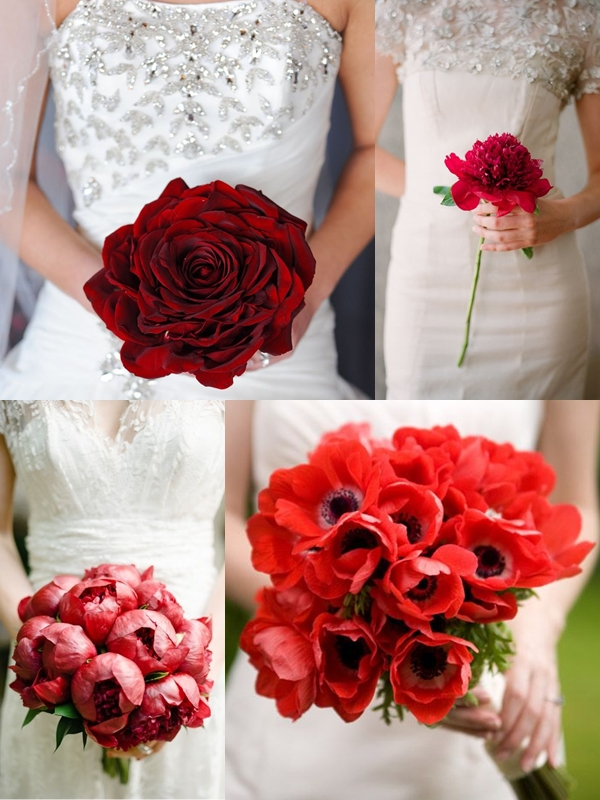 Wedding Philippines - Red Single Bloom Flower Bouquet Ideas