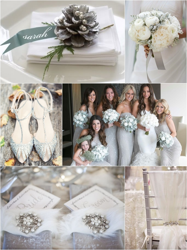 Wedding Philippines - Silver Winter Wedding Ideas Inspiration 01