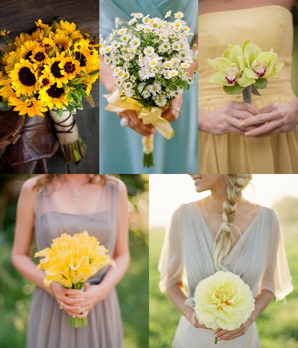 Wedding Philippines - Yellow Single Bloom Flower Bouquet Ideas