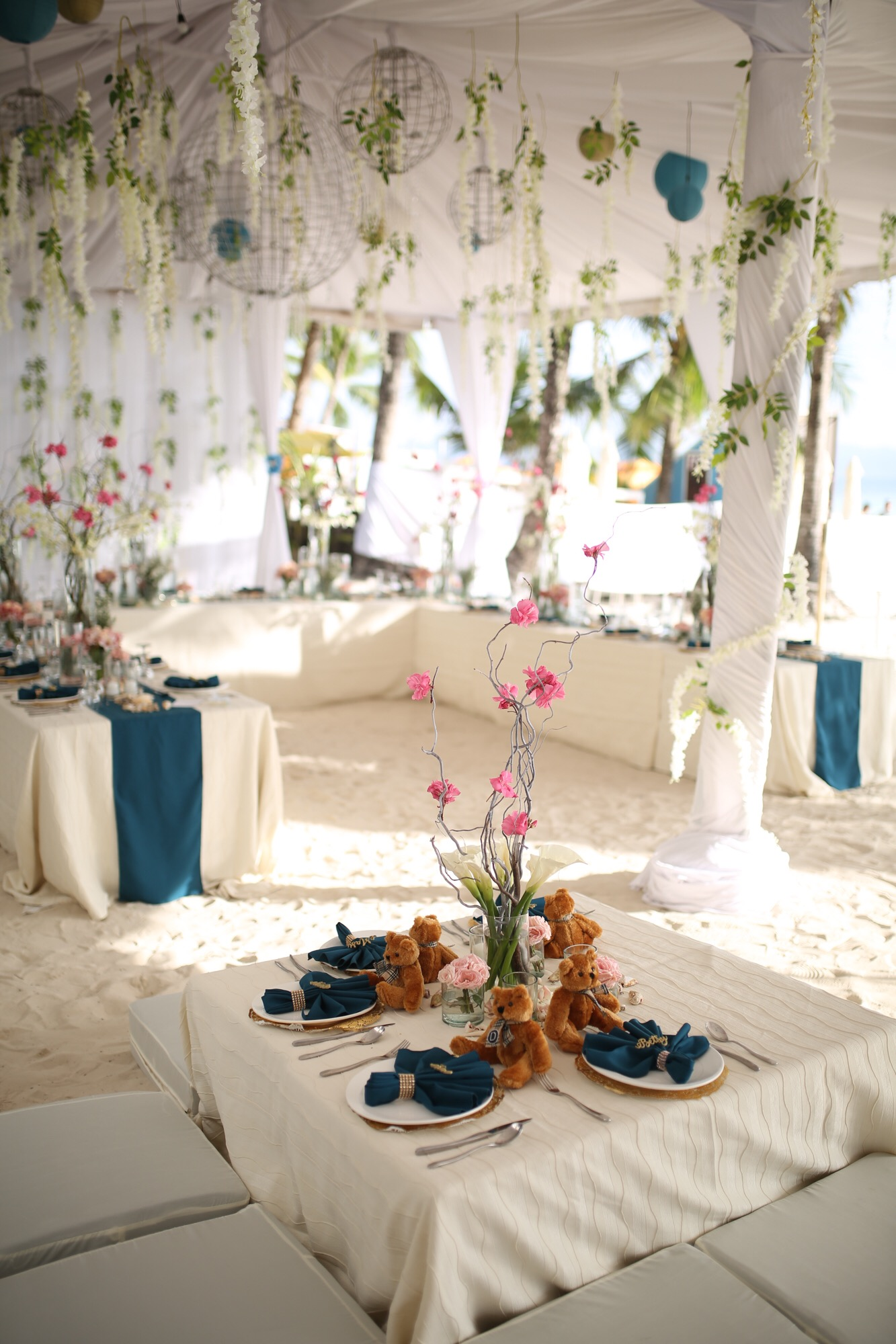 Elegant Teal And Gold Boracay Wedding Wedding