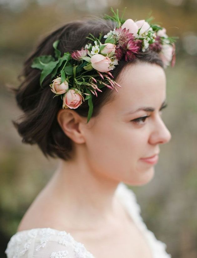 15 Chic Wedding Hairstyles For Short Hair Wedding Philippines