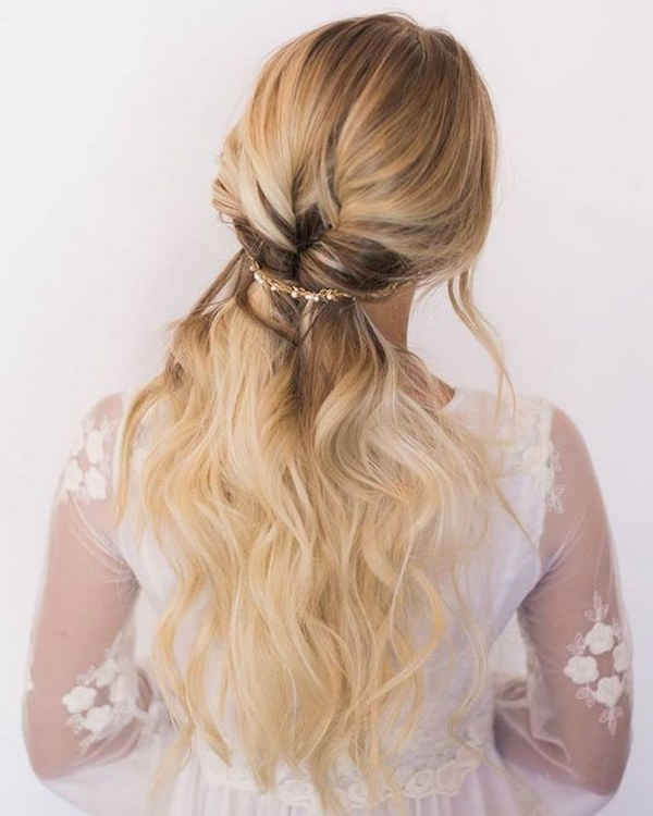 35 Gorgeous Wedding Hairstyles Which Are Half Up: 38 Gorgeous Half Up Half Down Wedding Hairstyles