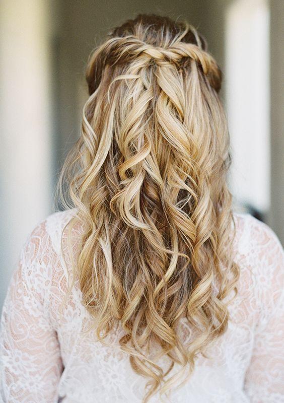 38 Gorgeous Half Up Half Down Wedding Hairstyles Wedding